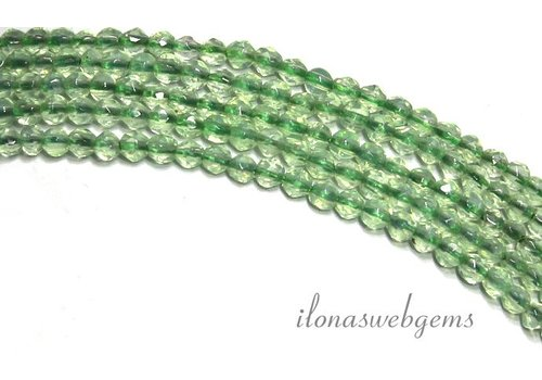 Aventurine beads faceted mini round about 2.2mm