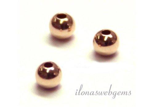 14 carat rose gold bead 4mm light