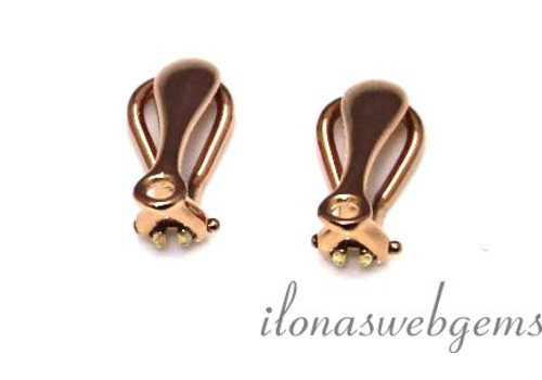 1 pair of ear clips Rose Vermeil