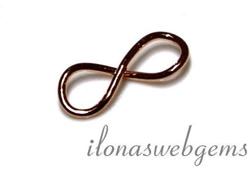 1 Rose Vermeil connector infinity