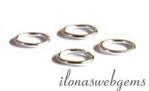 10 Stück 925/000 Silber Öse geschlossen