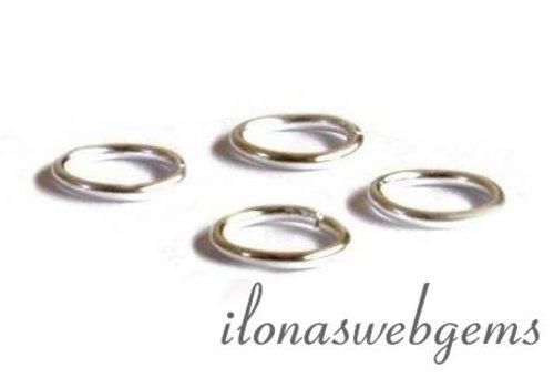10 stuks sterling zilveren oogje gesloten ca. 8x0.8mm