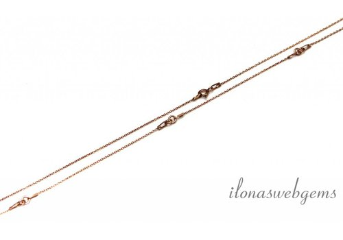 Rosé Vermeil ketting 2-delig 45cm
