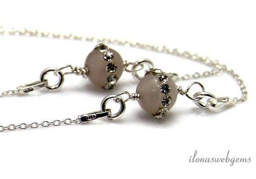Inspiratie ketting: sterling zilver, Jade kralen