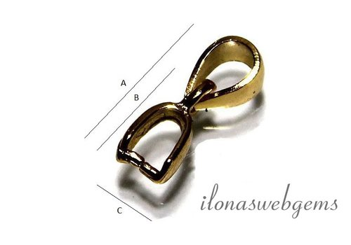 Vermeil Bail / hanger clasp kleine maat