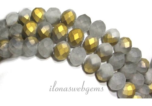 Kristal kralen (Swarovski Style) ca. 10x8mm