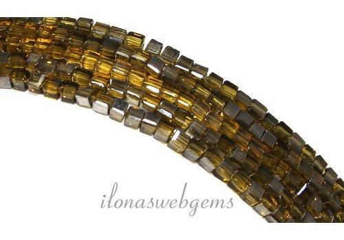 Kristal kralen kubusjes (Swarovski Style) ca. 2.5mm