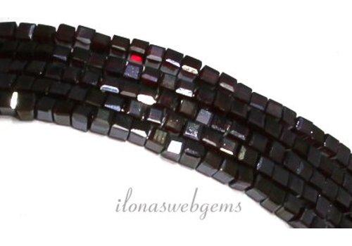 Granatrot Kristall-Perlen (Swarovski-Stil) Würfel ca. 3mm