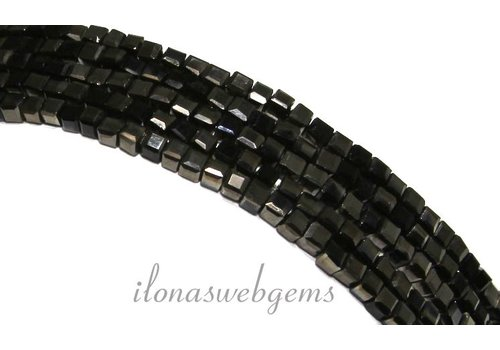 Crystal beaded black cubes (Swarovski Style) approx 2.5mm
