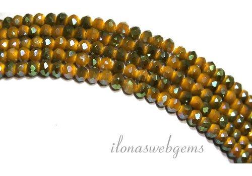 Kristal kralen (Swarovski Style) ca. 3.5x2.5mm