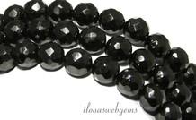 Schwarz Jet Perlen rund ca. 10mm facettiert