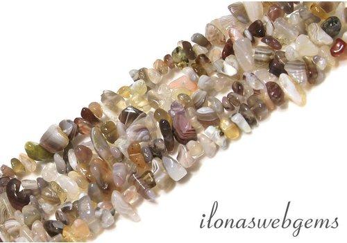 Botswana agate beads split approx. 7mm