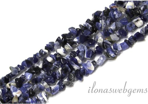 Sodalite beads split approximately 7mm