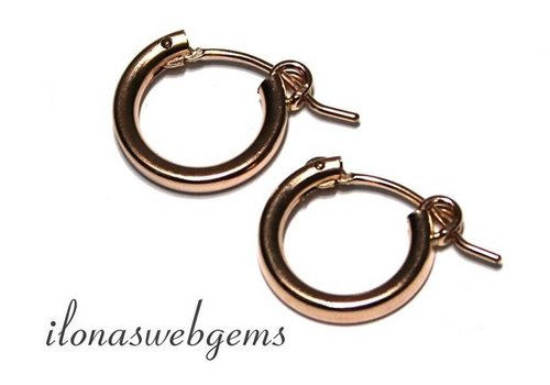 1 pair Rose Goldfilled creolen 15x15x2mm
