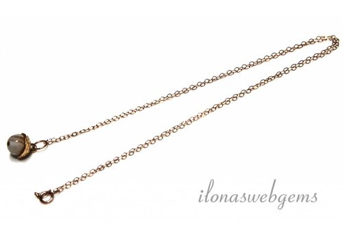Inspiration Rose Gold Filled necklace with agate bead