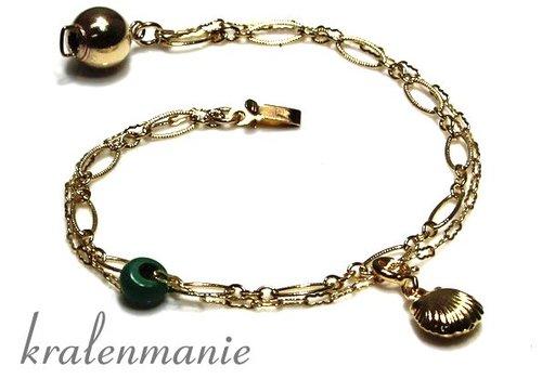 Inspiration gold filled bracelet