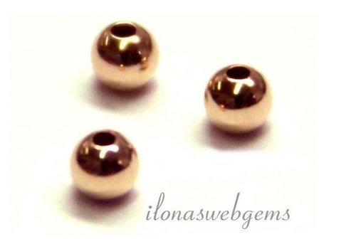 14 carat rosé gold bead 6mm