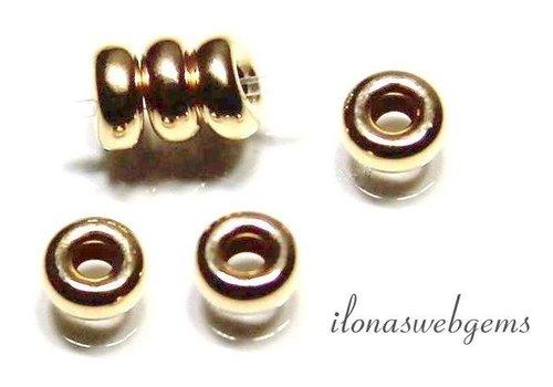 14 karaat gouden rondel ca. 3.3x1.5mm