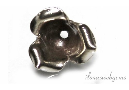 Hill tribe sterling silver bead cap