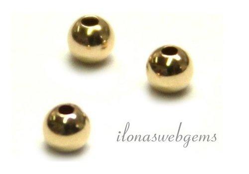10 karaat gouden kraaltje ca. 2mm light