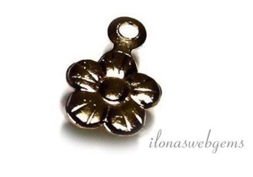 Gold filled Mini Schmuck Anhänger Blume ca. 9x6mm