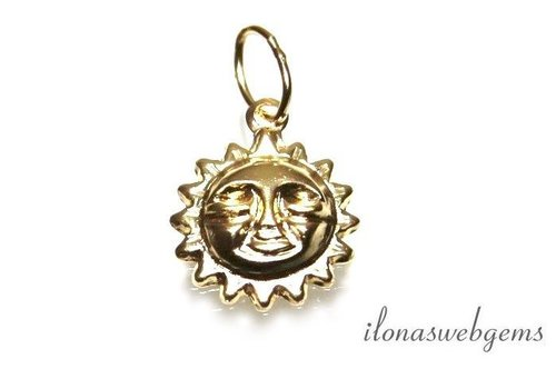 14k / 20 Gold filled charm sun