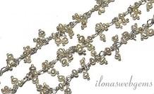 10cm Sterling Silber Collier mit Perlen