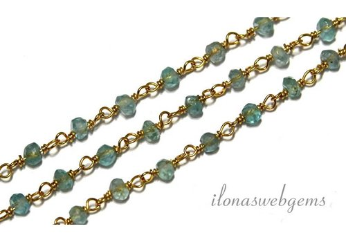 10cm vermeil necklace with beads Apatite