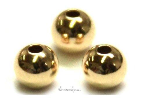 14 karaat gouden kraaltje ca. 5mm light