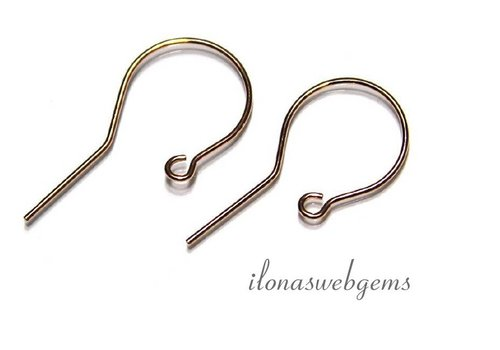 1 Paar Rose Vermeil Ohrring Klammern ca. 25x13mm