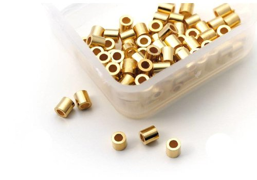 100 pcs Griffin Vermeil crimp beads tube Medium