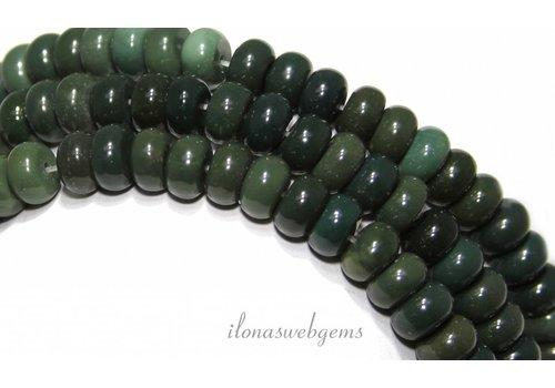 Jaspis Perlen Rondell ca. 8x5mm