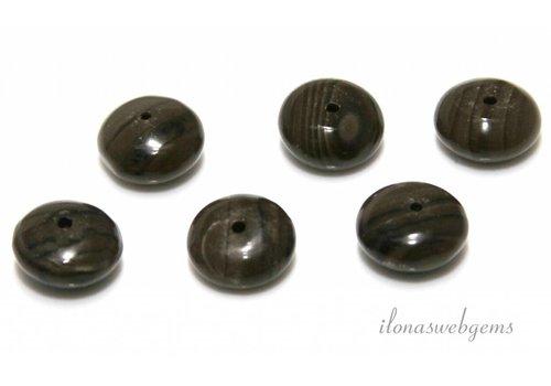 10 Stück Zebra-Jaspis Perle ca. 12.5x6mm