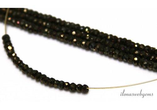 Pyrit Perlen Facette Rondelle über 3,5x2mm