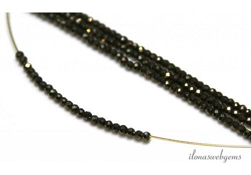 1cm Pyrit Perlen facettiert rund mini ca. 2mm