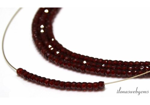 Zircon faceted roundel beads about 3x2mm