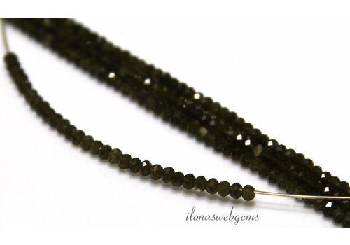 Chrysoberyl cat eye beads facet roundel about 2.5x2mm