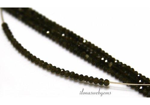 1cm Chrysoberyl Katzenauge Perlen Rondelle über 2.5x2mm Facette