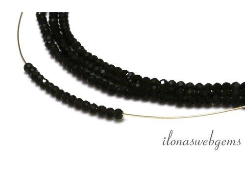 Dunkle Rauchquarz (Morion) facettiert Perlen um etwa 3 mm