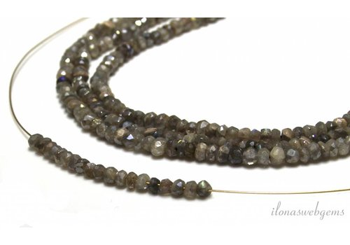 Labradorite beads roundel facet about 4x2.5mm