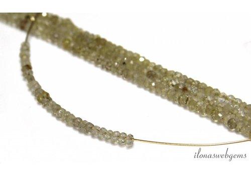 Rutielkwarts facettierte Rondelle Perlen über 3x2mm