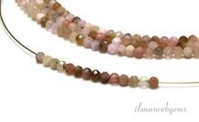 1cm Rosa Opal Perlen Facette Rondelle über 3x2.5mm