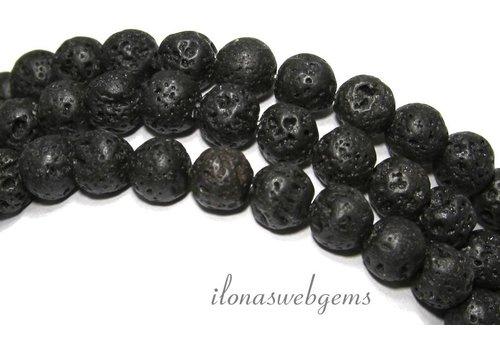 Lava stone beads around 8.5mm