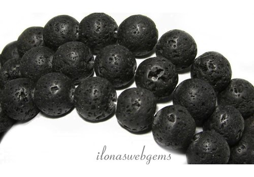 Lava stone beads approx 14mm