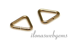 10x 14k/20 Gold filled lock-in triangel ca. 5x0.65mm