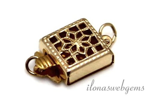 14k / 20 Gold filled filigrain back lock approx. 13x8x4mm