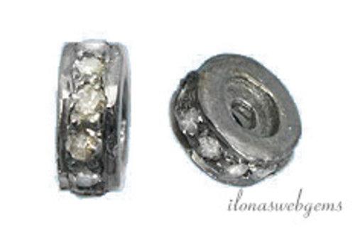 925/000 Silber Perle mit Diamant - Copy