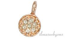 Rosé vermeil hanger met diamant