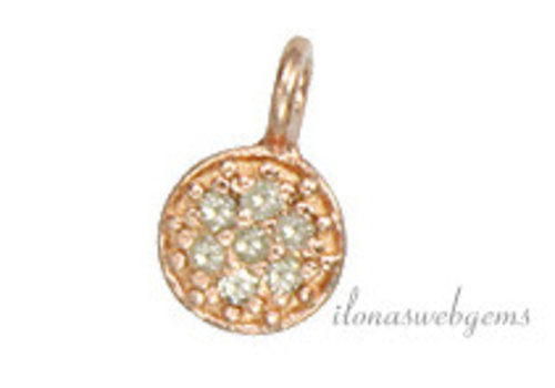 Rose vermeil pendant with diamond