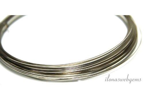 Silverfilled draad vierkant half hard ca. 0.5mm / 24GA